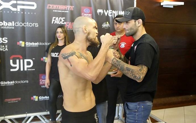 Márcio Pedra e Guilherme Bomba atingiram o mesmo peso e confirmaram seu combate no Face to Face 12 (Foto: Richard Pinheiro/GloboEsporte.com)
