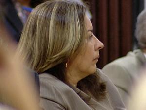 Juíza aposentada por invalidez Olga Regina de Souza Santiago (Foto: Reprodução/TV Globo)