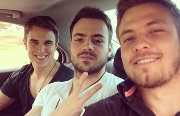 Amigos, Flávio, Pedro e Luís Eduardo viraram celebridades nas redes sociais (Foto: Arquivo pessoal)