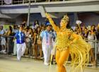 Veja a galeria de fotos das musas que desfilaram no carnaval Vitória (Weliton Aiolfi/ G1)
