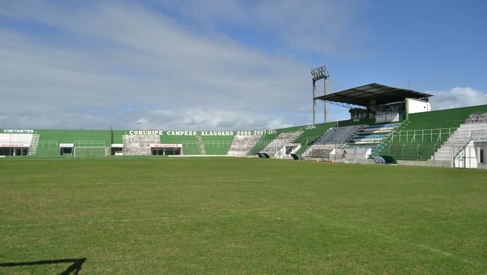 Estádio Gérson Amaral, em Coruripe (Foto: Jota Rufino/GloboEsporte.com)