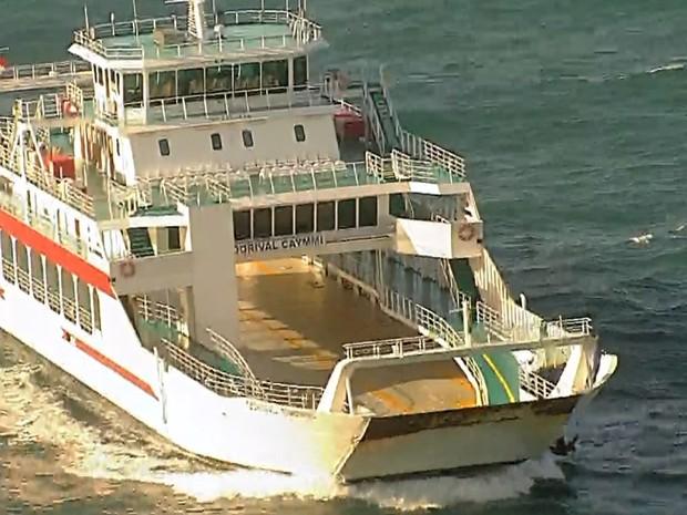 Novo Ferry Boat;bahia 2 (Foto: Reprodução/TV Bahia)