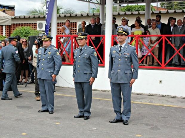 Coronel Gouvêa assumiu Comando Geral da PM em solenidade com participação do governador José Melo (Foto: Adneison Severiano/G1 AM)