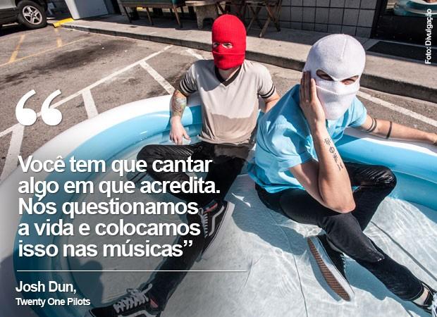 A banda americana Twenty One Pilots é atração do Lollapalooza (Foto: Divulgação)