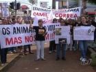 Protesto em Goiânia pede proteção a animais vítimas de maus-tratos