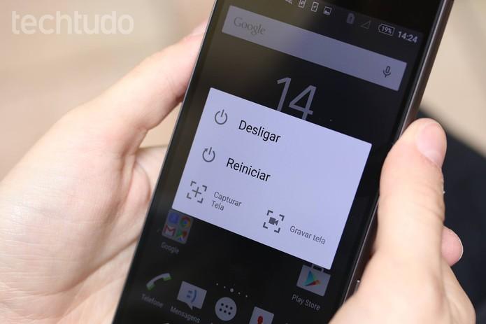"""Escolha a opção """"Capturar tela"""" (Foto: Lucas Mendes/TechTudo)"""
