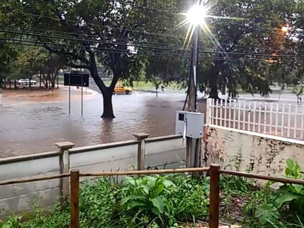 Kartódromo em Campinas ficou debaixo d'água (Foto: Sérgio Stefani Jr)