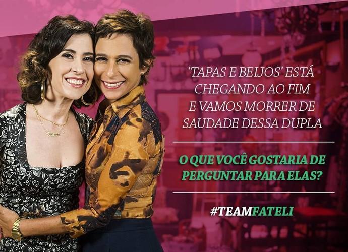 Mande perguntas para Andrea Beltrão e Fernanda Torres (Foto: Gshow)