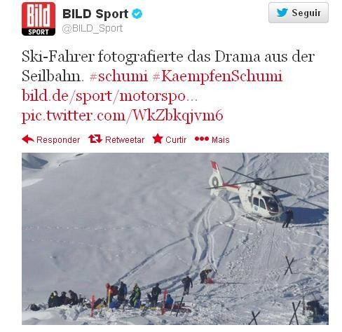 Schumacher é atendido após o acidente (Foto: Reprodução/Bild)