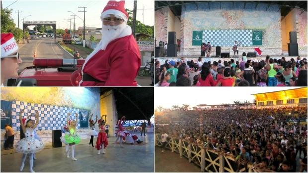 Chegada do Papai Noel em Itacoatiara-Am (Foto: Reprodução/Rede Amazônica)