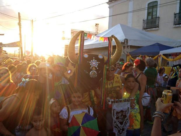 Boi da Macuca prova que Olinda tem espaço para o forró no carnaval (Foto: Lorena Andrade / G1)