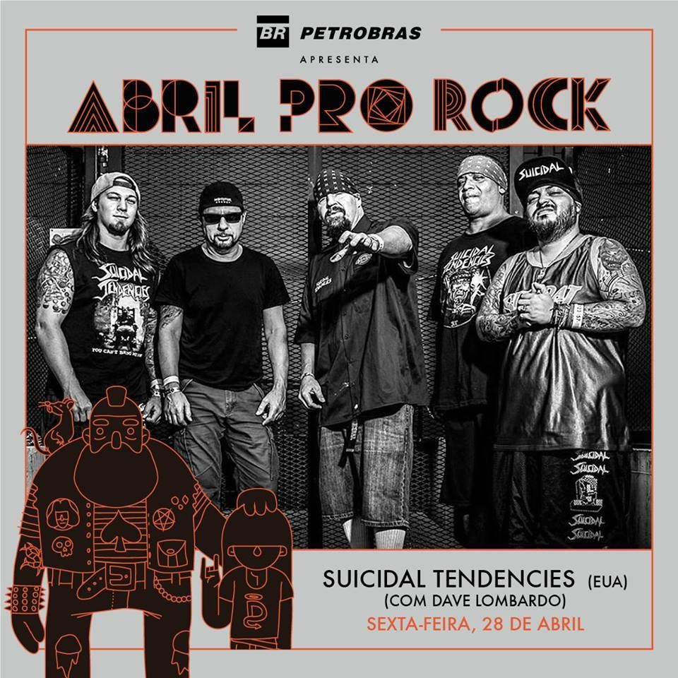 Suicidal Tendencies no cartaz do festival Abril Pro Rock, em Recife