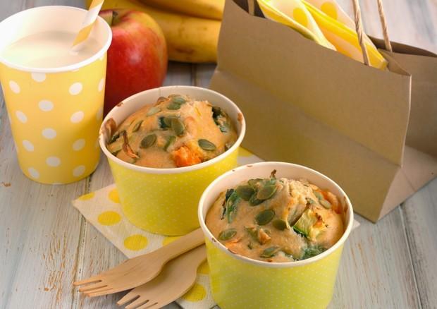Muffin de semente de abóbora, ovos e legumes (Foto: Divulgação)