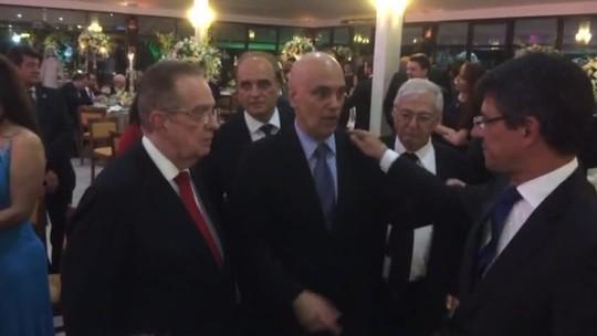 Moraes toma posse no STF e é homenageado em jantar