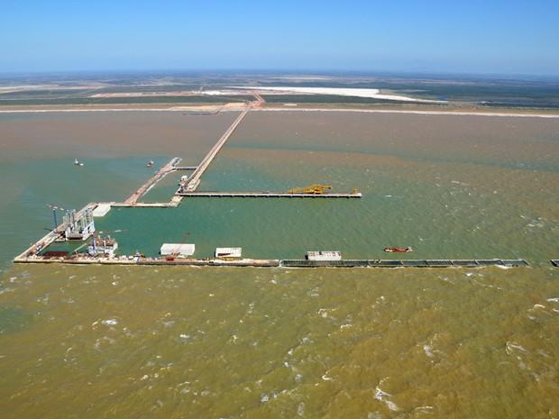 Porto do Açu em São João da Barra (Foto: Divulgação/AngloAmerican)