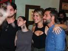Bruno Gagliasso vai com Giovanna Ewbank à festa de 'Sol nascente'