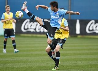 Henrique Almeida, atacante do Grêmio (Foto: Lucas Uebel / Grêmio, DVG)