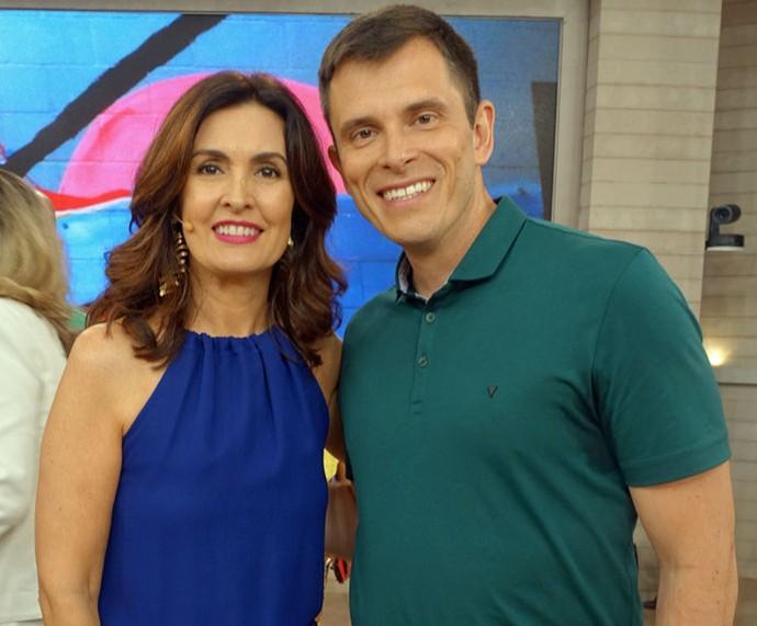Fátima com o parceiro Gustavo Cerbasi (Foto: Carolina Morgado/Gshow)
