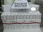 PM apreende caixas de cigarros contrabandeados em Luz
