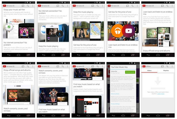 Série de screenshots do YouTube Music Key vazou antes do lançamento (Foto: Reprodução/AndroidPolice)