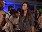 Thaila Ayala termina a noite em 'trenzinho' de festa pós-Rock in Rio