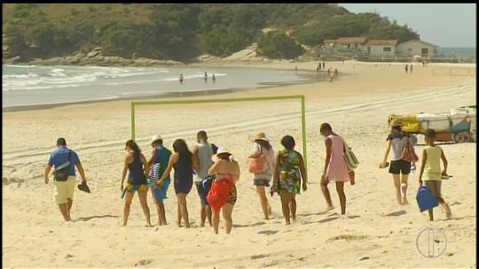 Praia do Peró é cenário de mais uma novela da Globo