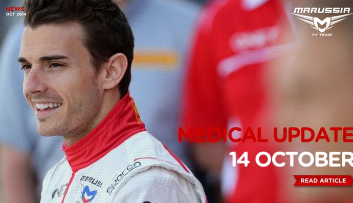 Marussia divulga novo comunicado sobre estado de saúde de Jules Bianchi (Foto: Reprodução)