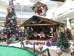 Decoração de Natal do shopping de Mogi das Cruzes (Foto: Douglas Pires/G1)