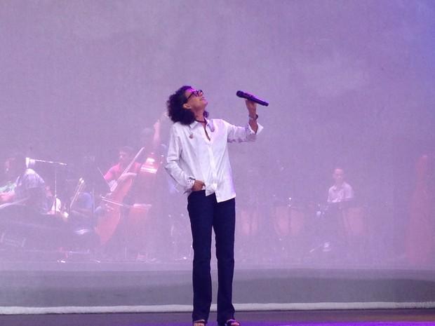 Clássico 'Imagine' é uma das músicas do repertório (Foto: Gabriel Barreira/G1)