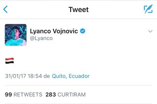 Twitter Lyanco São Paulo (Foto: Reprodução: Twitter)