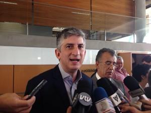 Clodoaldo Pelissioni, secretário dos Transportes Metropolitanos, esteve no evento (Foto: João Paulo de Castro/G1)