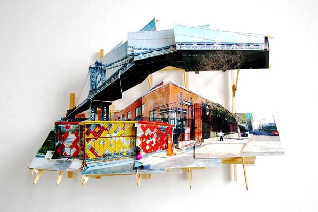 Trabalho tridimensional de Isidro Blasco, da Sim Galeria (Foto: Divulgação)