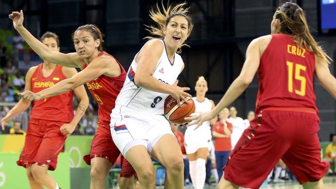 Espanha x Sérvia basquete feminino Olimpíada RIo (Foto: REUTERS/Shannon Stapleton)