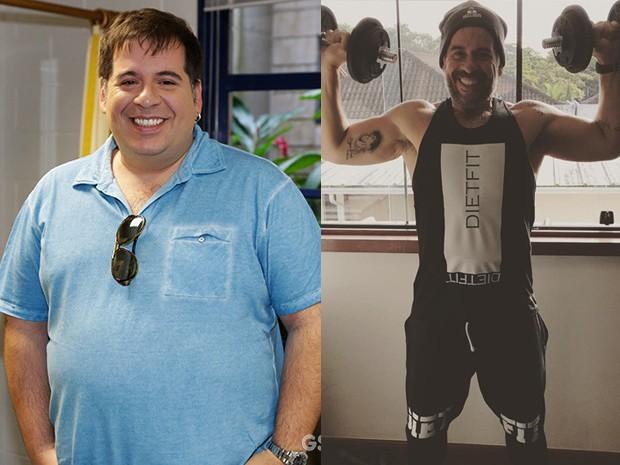 Leandro Hassum antes e depois (Foto: Gshow e reprodução/Instagram)