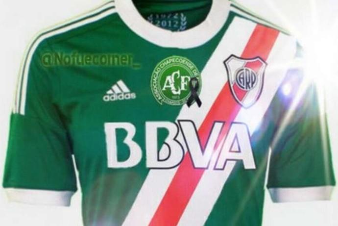 River Plate uniforme verde Chapecoense (Foto: Reprodução / Olé)