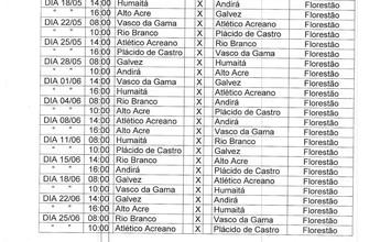 FFAC divulga tabela completa do Acreano Sub-19; final é dia 2 de julho