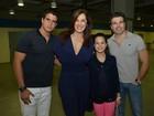 Após gravações, elenco de 'Salve Jorge' vai ao show de Ivete Sangalo