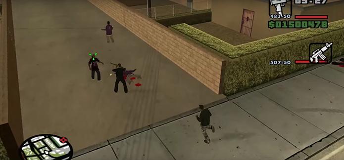 Não é possível fazer missões no modo coop de GTA San Andreas (Foto: Reprodução/YouTube)
