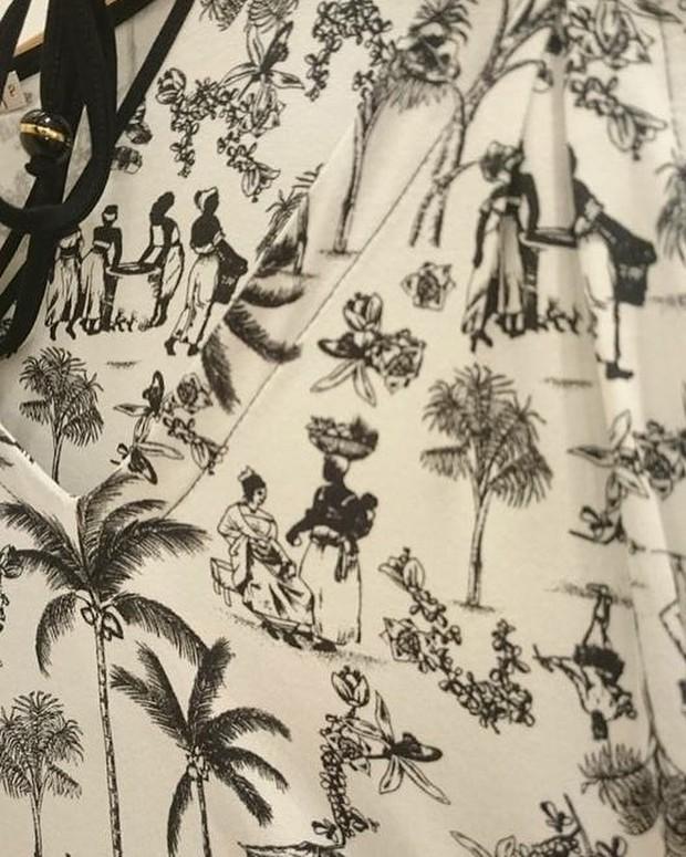 Estampa de roupa com escravos causa polêmica (Foto: Reprodução/Facebook)