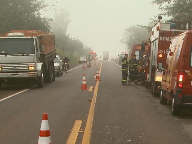 Operação de resgate envolveu bombeiros de quatro cidades (Foto: Reprodução/EPTV)