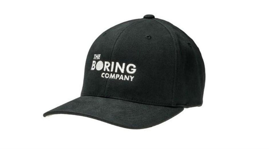 O boné da Boring Company que já rendeu quase R$ 1 milhão a Elon Musk (Foto: Reprodução/ The Boring Company)
