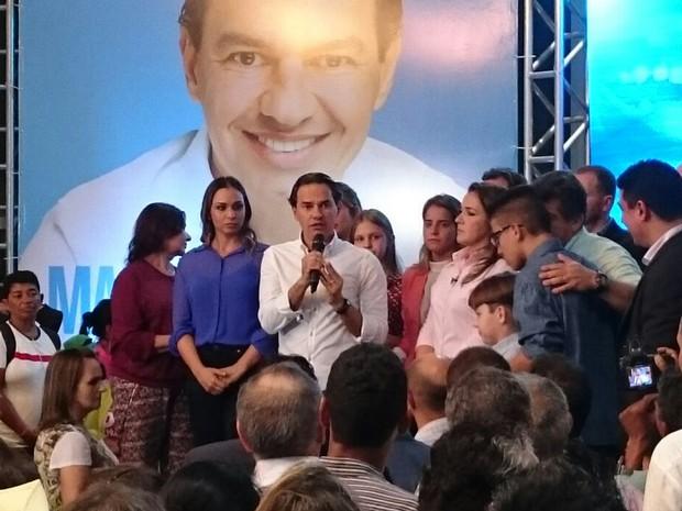 PSD oficializa Marquinhos Trad como candidato a prefeito de Campo Grande (Foto: Rodrigo Grando/TV Morena)