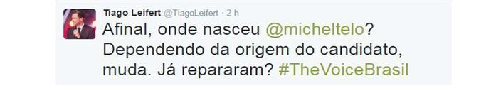 Tweet Leifert (Foto: Reprodução Internet)