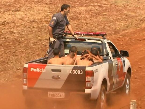Presos são recapturados após fuga do CPP de Jardinópolis, SP (Foto: Reprodução/EPTV)