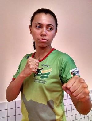 Lutadora de taekwondo, Thaís Oliveira, é a primeira representante do Acre, no LDU lutas. (Foto: Arquivo pessoal)
