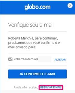 Confirmação de e-mail (Foto: Globoplay)