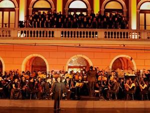 Tradicional concerto de encerramento do Festival de Ópera ocorre neste sábado (28), às 20h, em frente ao Theatro da Paz, em Belém. (Foto: Divulgação)