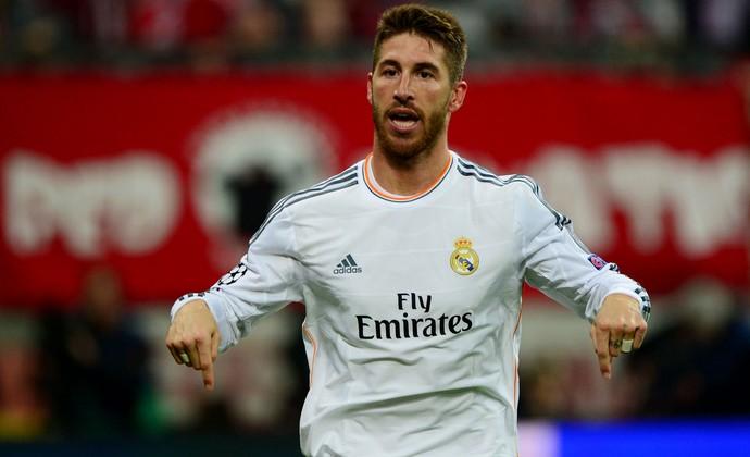 Sérgio Ramos Bayern de Munique x Real Madrid (Foto: AFP)