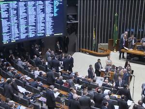Câmara dos Deputados conclui votação da primeira medida de ajuste fiscal/GNews (Foto: Reprodução GloboNews)