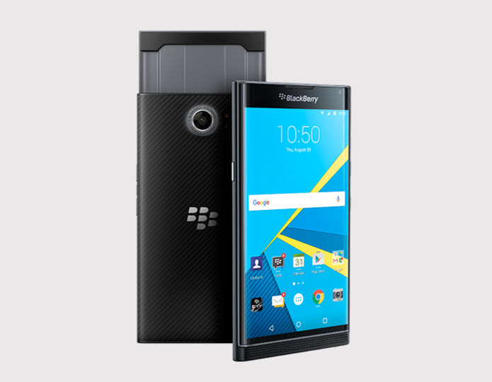 BlackBerry Priv tem Android 5.1 Lollipop e câmera de 18 megapixels (Foto: Divulgação/BlackBerry)